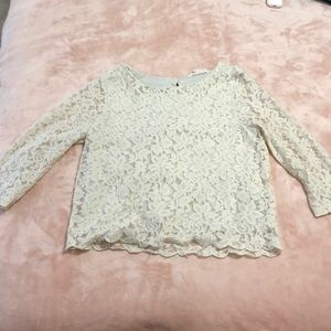 White lacy top for kids